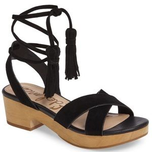 New Sam Edelman Lace Up Clog Sandals